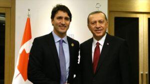 Erdoğan, Kanada Başbakanı Trudeau ile görüştü.