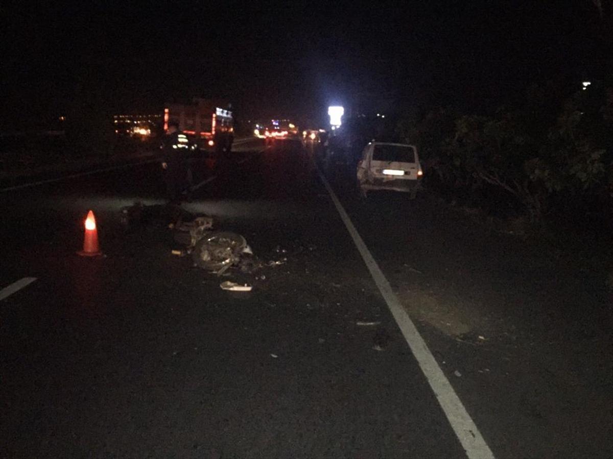Aydın'da otomobile çarpan motosikletin sürücüsü öldü
