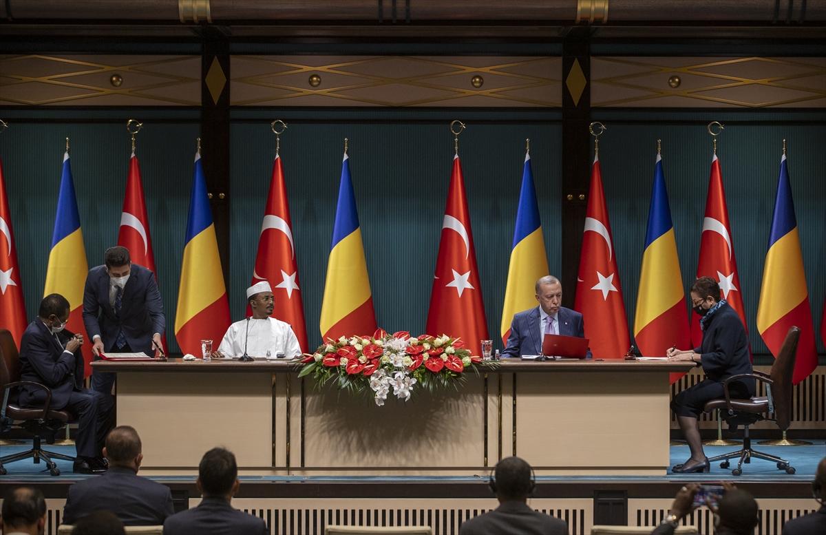 Cumhurbaşkanı Erdoğan Çad Geçiş Dönemi Devlet Başkanı Itno ile ortak basın toplantısında konuştu: