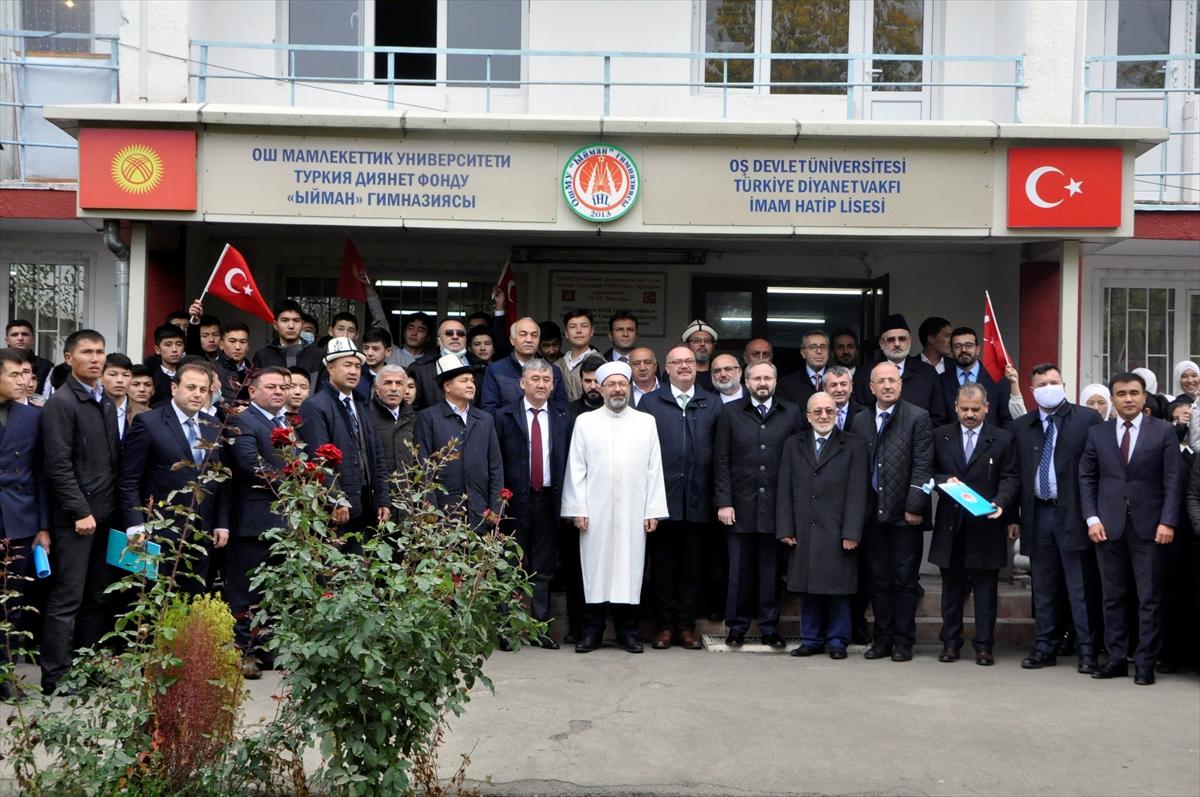 Diyanet İşleri Başkanı Erbaş, Kırgızistan'da Oş Devlet Üniversitesi Rektörü ile görüştü