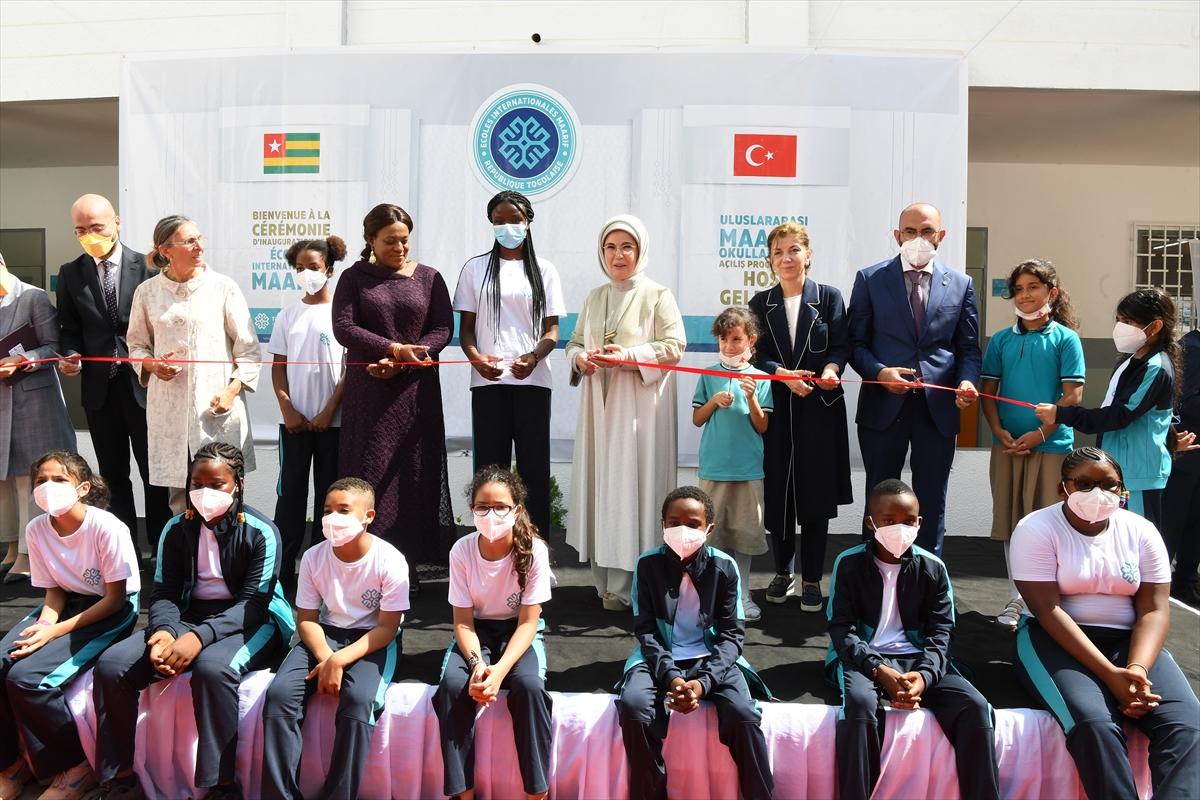 Emine Erdoğan, Togo'da Türkiye Maarif Vakfı Eğitim Kampüsü'nün açılışında konuştu: