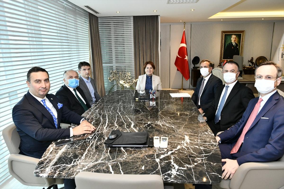 İYİ Parti Genel Başkanı Akşener, TÜSİAD yönetimi ile bir araya geldi