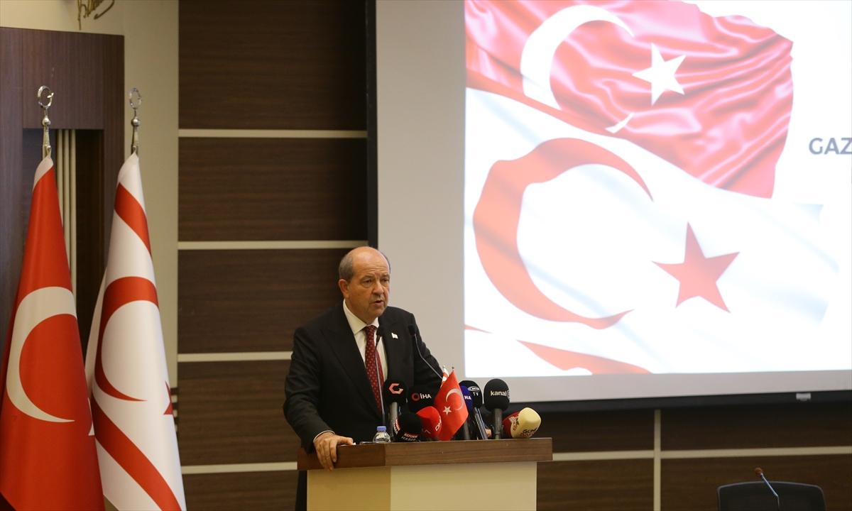 """KKTC Cumhurbaşkanı Tatar: """"Varlığımızı devlet temelinde sürdürme en temel hakkımızdır"""""""
