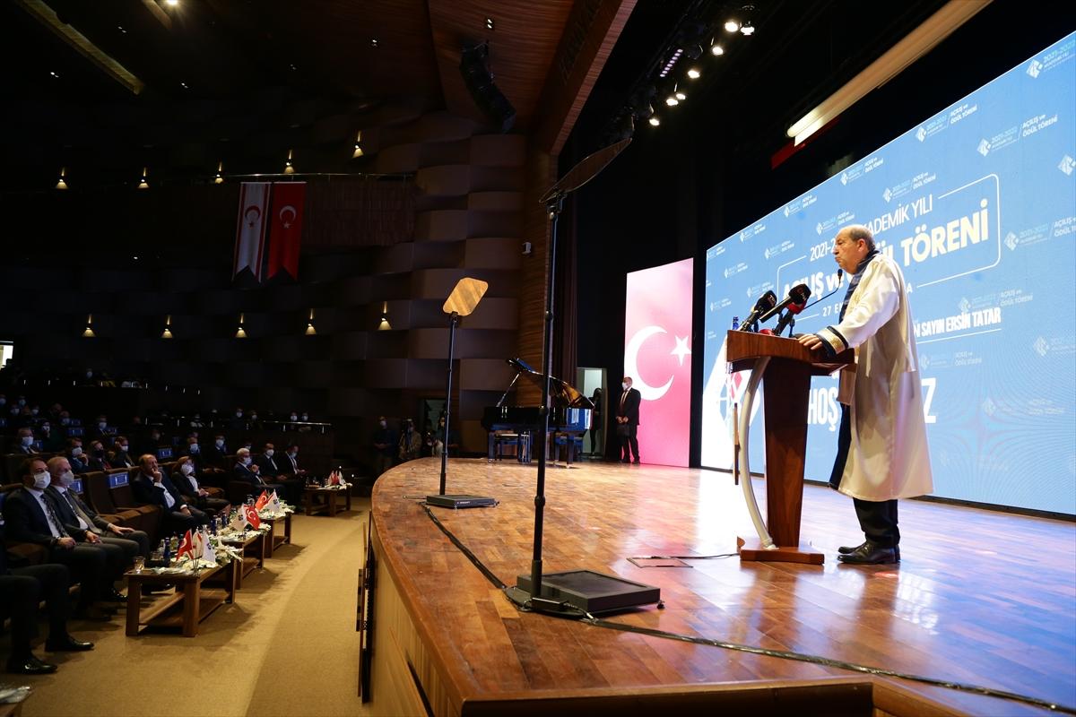 KKTC Cumhurbaşkanı Tatar, HKÜ 2021-2022 Akademik Yılı Açılış Töreni'nde konuştu: