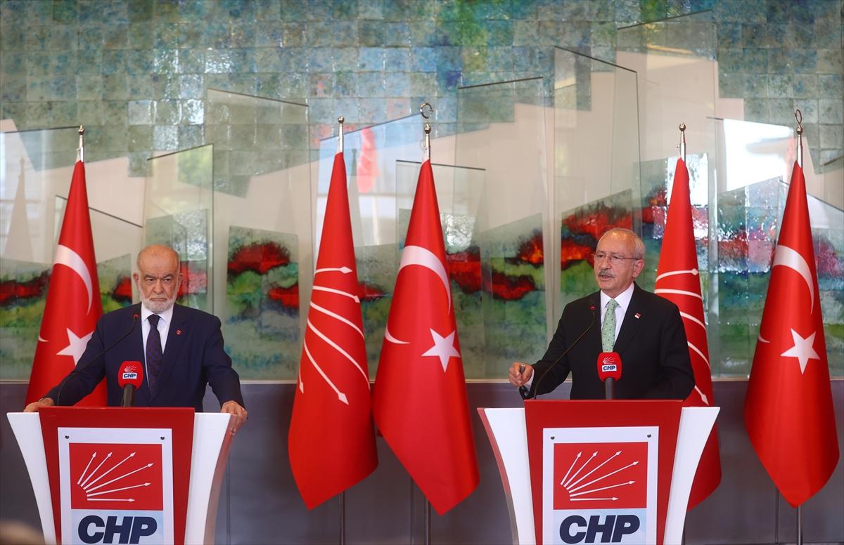 Saadet Partisi lideri Karamollaoğlu, Kılıçdaroğlu'nu ziyaret etti