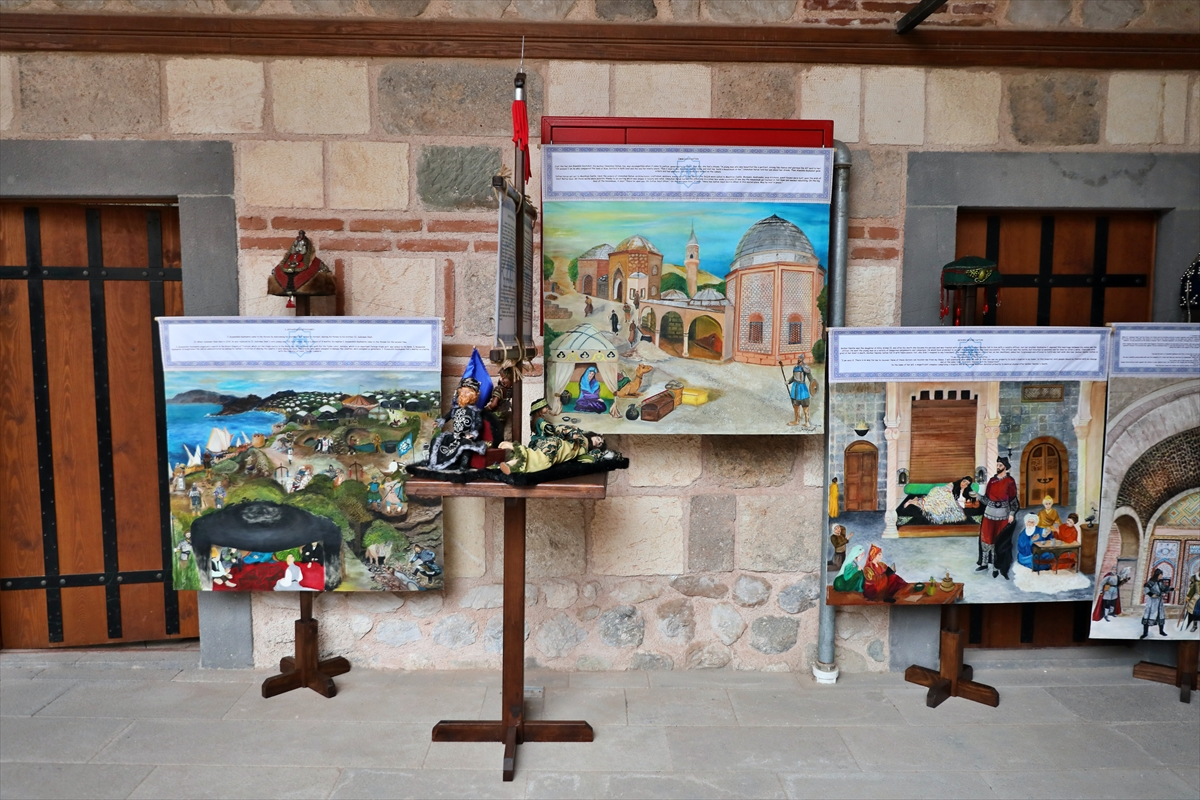 """Tarihi Taşhan'da """"Cihad-ül Ekber Danişmendliler ve Bir Zamanlar Selçuklu"""" sergisi açıldı"""